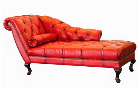 red leather chaise sofa 17 types of sofas couches explained with pictures
