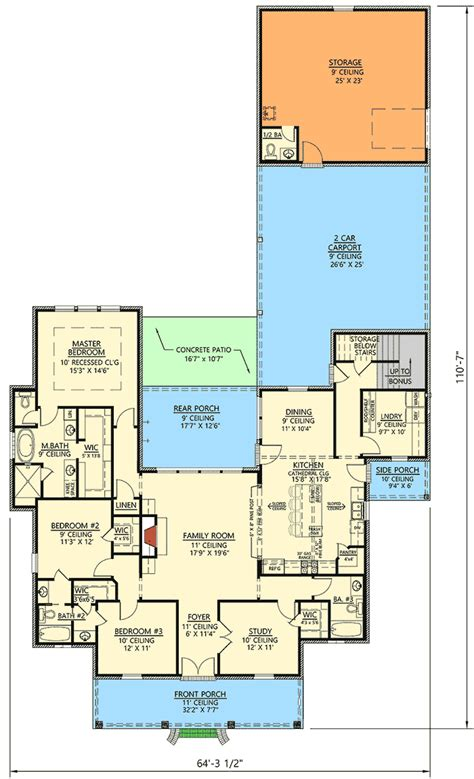 acadian house plans with bonus room 3 bed acadian house plan with bonus room 56403sm