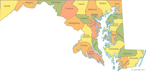 map of md map of maryland
