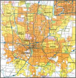 Maps Columbus Ohio by Pages 2007 2009 Ohio Transportation Map Archive