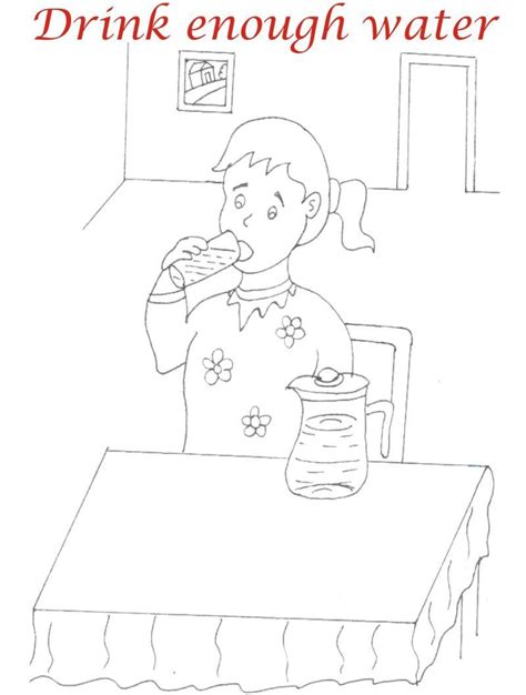 Eating Manners Coloring Printable Page 9 For Kids Manners Coloring Pages 2