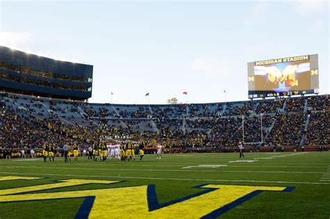 student section at michigan stadium michigan football recruiting devery hamilton is a big