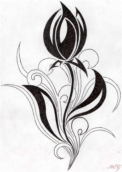 tribal tulip tattoo 30 white tulip flower tattoos with meaning