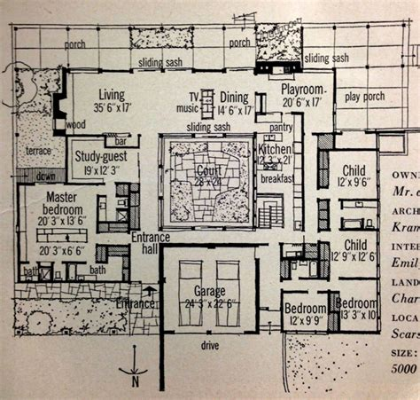 mid century floor plans inspiration retro 1959 home magazine features mid century modern courtyard homes at home in