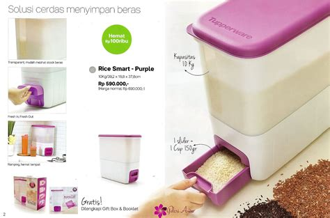 Tupperware Rice Box rice smart purple tupperware katalog tupperware terbaru