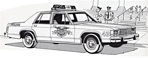 crown victoria coloring page ford ltd crown victoria police coloring sheet 2 by