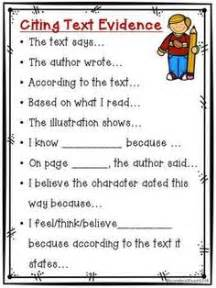 Evidence on pinterest close reading citing text evidence and