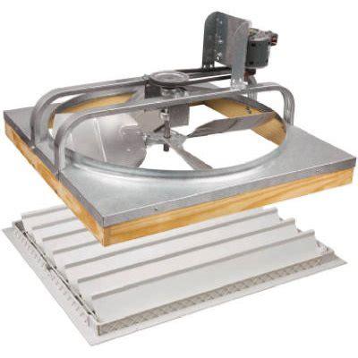 whole house fans 36 inch belt drive whole house attic fan with shutter model 54508