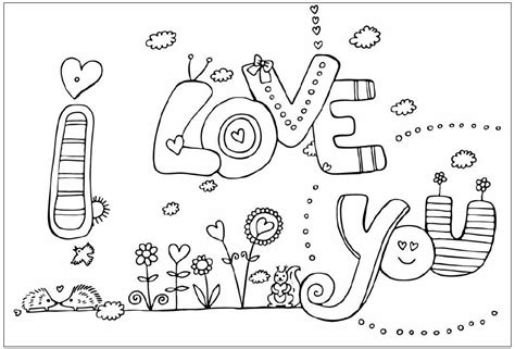 showing affection coloring sheet quot i love you quot coloring pages gt gt disney coloring pages