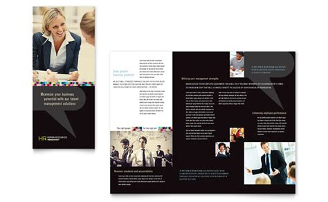 Wedding Consultant Brochure by Human Resource Management Tri Fold Brochure Template Design
