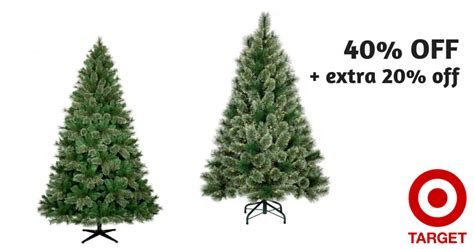 target 40 off christmas trees extra 20 off