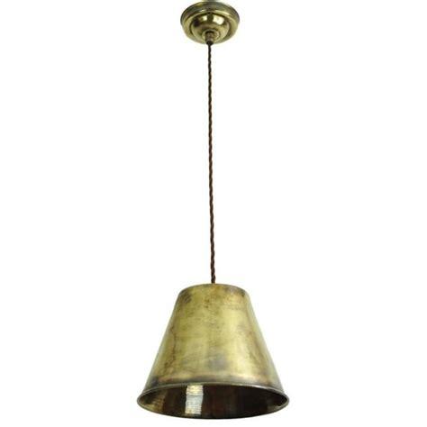 vintage metal led ceiling pendant light hanging on braided