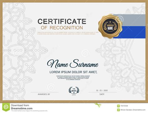 certificate layout design template certificate frame design template layout template in a4