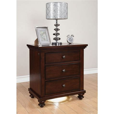acme 5 pc hennessy collection cherry brown finish wood aceline storage bed 6 piece bedroom set in brown cherry