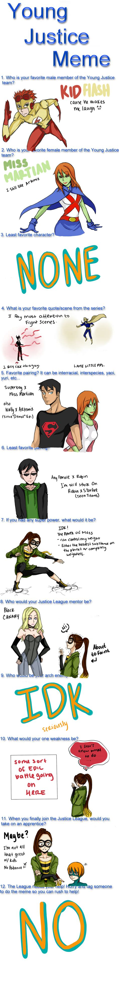 Young Justice Memes - young justice meme by deathatsunrise on deviantart