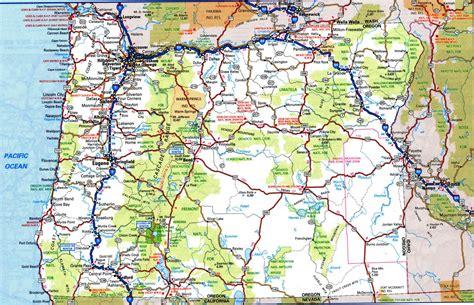 map of oregon driving oregon road map