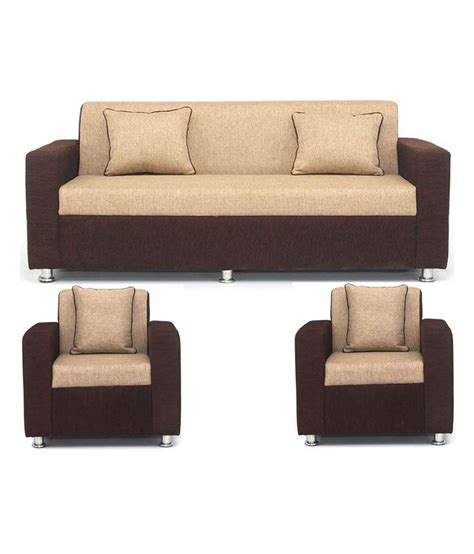 sofa loveseat and chair set bls tulip brown cream 3 1 1 seater sofa set buy online