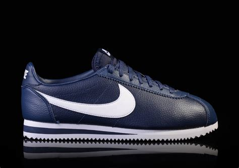 Nike Classic Cortez Leather White Navy Nike Classic Cortez Leather Midnight Navy White For 82 50