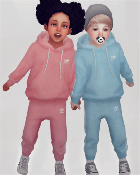 sims 4 toddler cc unisex toddler jogger set for the sims 4 the sims 4