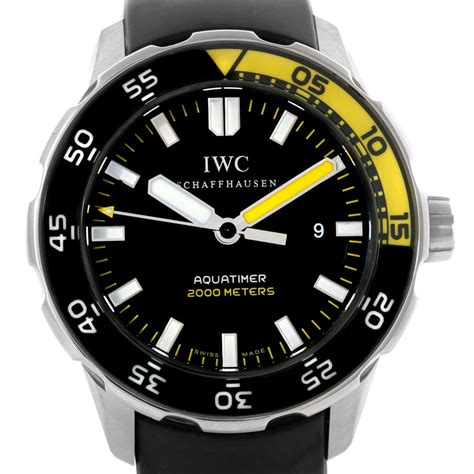iwc dive watches sold listing iwc aquatimer 2000m diver automatic 44mm