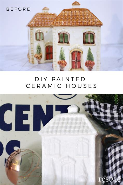 decoart crafts painted ceramic houses