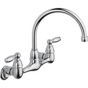 wall mount kitchen faucets peerless choice 2 handle wall mount kitchen faucet in