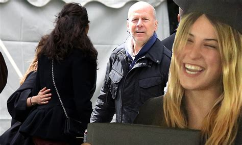 Bruce Willis Hails Stunt After Defying Fall by Scout Willis Wraps Arms Around Stepmother And