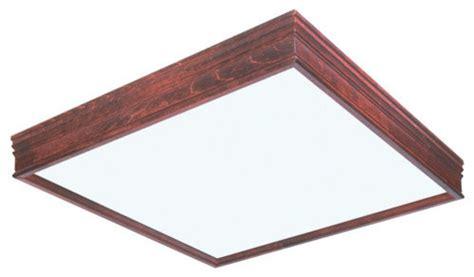 Wood Fluorescent Light Fixtures Afx Lighting Ctc2u3r8 Two Light 25 125 Quot Square Cherry Wood