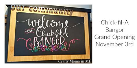 Chick Fil A Grand Opening Giveaways - chick fil a bangor grand opening november 3rd crafty mama in me