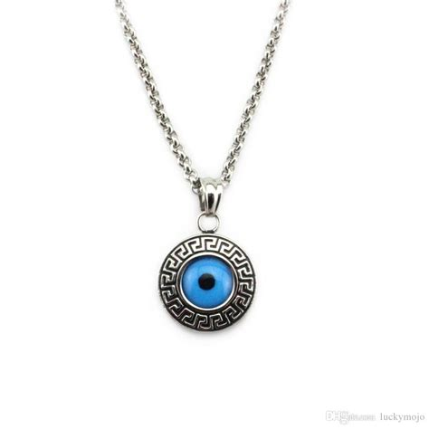 Turkish Evil Eye Amulet 316L Stainless Steel Necklace