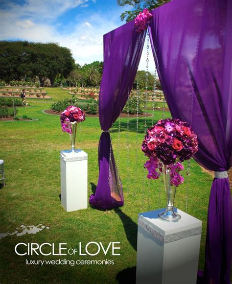 Wedding Arch Purple by Wedding Arch Purple Draping Tone Weddings