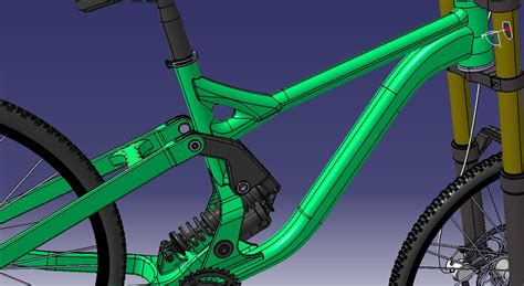 design frame in catia mountain bike supreme dh 3ds academy