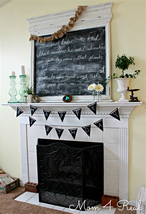 chalkboard paint birthday ideas reusable chalkboard birthday banner 4 real