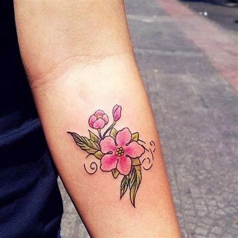 small pink tattoos small pink flower tattoos image collections flower