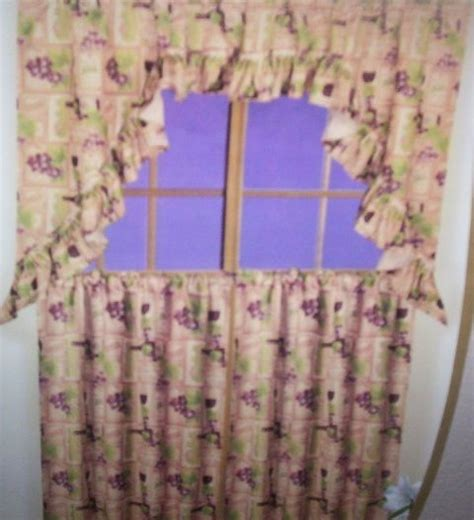 wine theme wine and grape kitchen curtains curtains