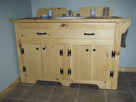 Unfinished Pine Bathroom Vanity by Knotty Pine Vanity Vanity Cabinets Pine Log Bathroom
