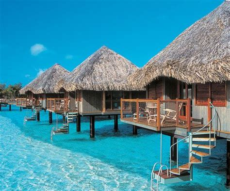 Tiki Huts On The Water bahamastar above water bungalows resort in the caribbean bora bora style resorts ladder