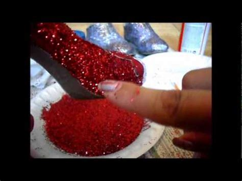decorar zapatillas con glitter como customizar zapatos con glitter 2da opcion youtube