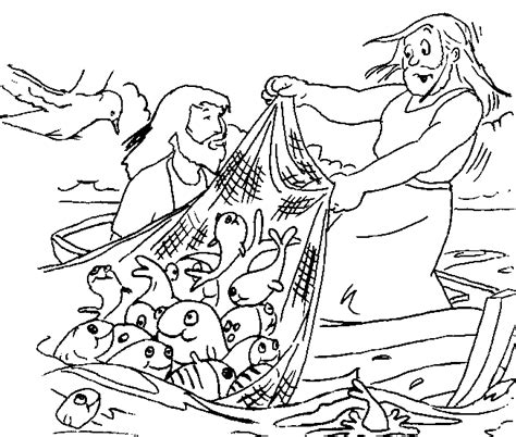 coloring pages jesus in the boat the miraculous catch of fish coloring pages