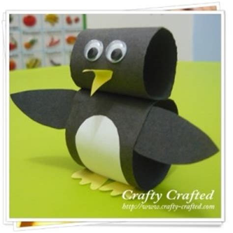 Penguin Paper Craft - crafty crafted 187 archive crafts for children