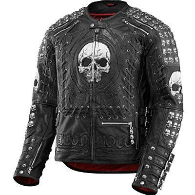Motorrad Lederjacke Icon by Icon Leather Jackets Icon Victory Metal God Leather