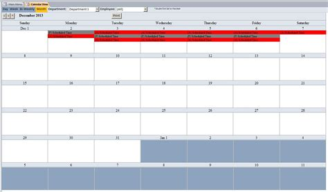 Microsoft Employee Schedule Template microsoft access employee scheduling database template