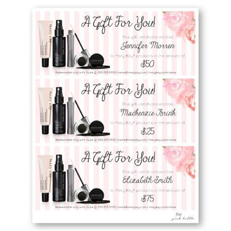 printable gift certificate mary kay 10 best gift certificate images on pinterest gift