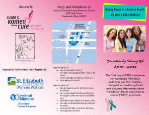breast cancer brochure template breast cancer phlets by