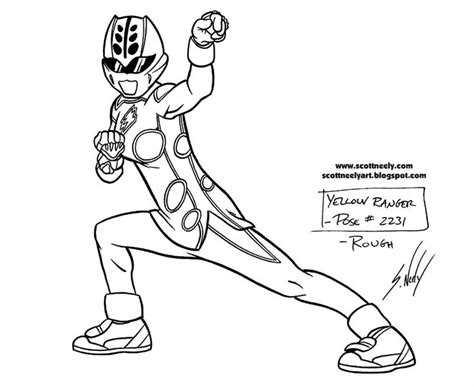 Coloring Pages Of Power Rangers Jungle Fury | yellow power rangers jungle fury coloring pages for girls