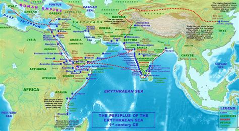 map of the sea file map of the periplus of the erythraean sea jpg