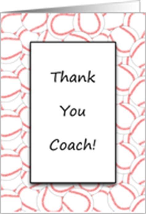 Coach Thank You Card Wording