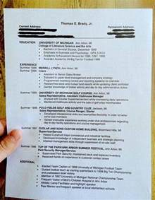 does your resume look like tom brady s college grad resume