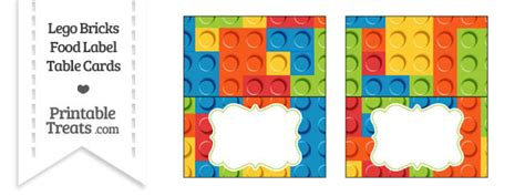Can You Use Lego Gift Cards At Legoland - lego bricks food labels printable treats com