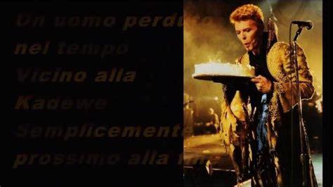 now we are free testo e traduzione david bowie where are we now traduzione italiano